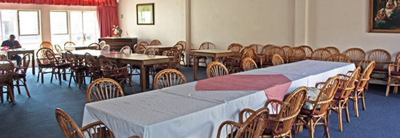 The Hall where a hot lunch is served every Wednesday at a reasonable price